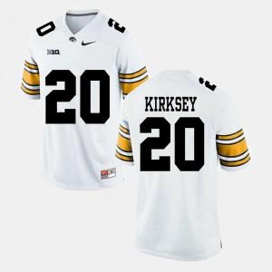 Christian Kirksey Iowa Jersey Mens #20 White Alumni Football Game 503198-605
