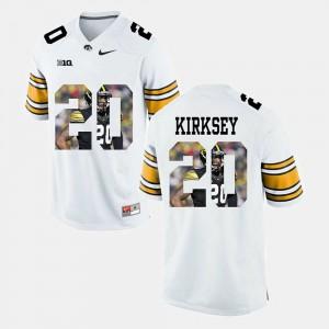 #20 White Mens Christian Kirksey Iowa Jersey Pictorial Fashion 687764-379
