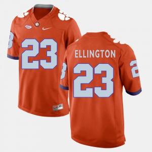 College Football Andre Ellington Clemson Jersey Orange Mens #23 643252-695