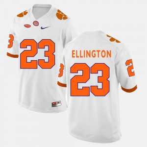 White Mens #23 College Football Andre Ellington Clemson Jersey 466675-650