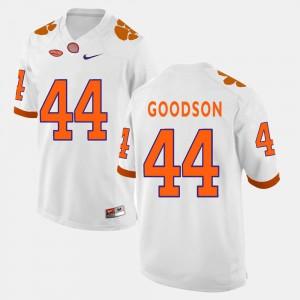 #44 White B.J. Goodson Clemson Jersey Men's College Football 612490-634