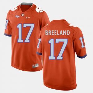 College Football Orange #17 Mens Bashaud Breeland Clemson Jersey 408784-600