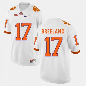 College Football For Men Bashaud Breeland Clemson Jersey White #17 889607-811