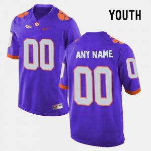 Clemson Custom Jersey Purple #00 College Limited Football For Kids 251535-516