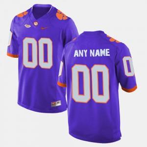 Purple College Limited Football Clemson Customized Jerseys #00 Men 669807-462