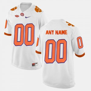 College Limited Football #00 White Clemson Customized Jerseys Mens 170200-133