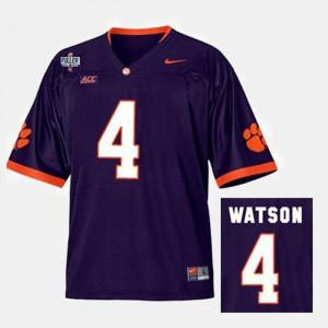 Purple Deshaun Watson Clemson Jersey Mens College Football #4 938925-659