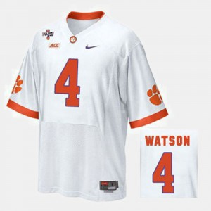 Deshaun Watson Clemson Jersey White #4 Men's College Football 920600-923