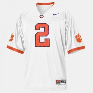 College Football Sammy Watkins Clemson Jersey Kids #2 White 555506-520