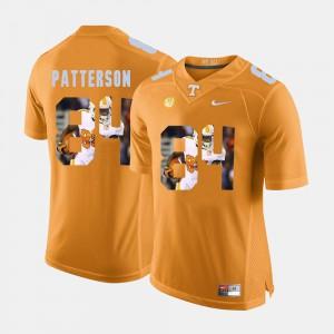 Men Cordarrelle Patterson UT Jersey Pictorial Fashion #84 Orange 674323-373