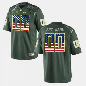 US Flag Fashion Oregon Customized Jerseys #00 Green For Men 722997-897