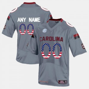Grey South Carolina Customized Jersey #00 US Flag Fashion For Men's 672486-856