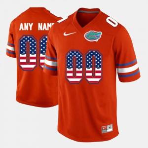 Gators Custom Jerseys #00 US Flag Fashion Orange Men 274789-545