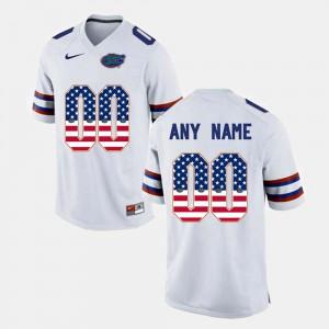 US Flag Fashion #00 Gators Customized Jerseys Men White 763352-405
