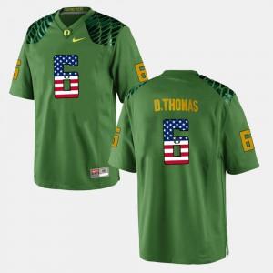 Green US Flag Fashion De'Anthony Thomas Oregon Jersey #6 Men's 902768-305