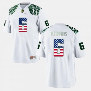 US Flag Fashion For Men De'Anthony Thomas Oregon Jersey White #6 827126-100