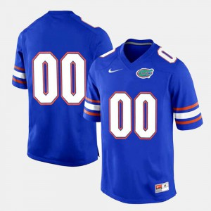 College Limited Football Royal Blue #00 Gators Customized Jerseys For Men's 595531-598