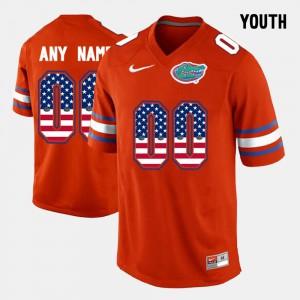 US Flag Fashion Kids Orange Gators Custom Jerseys #00 604828-579