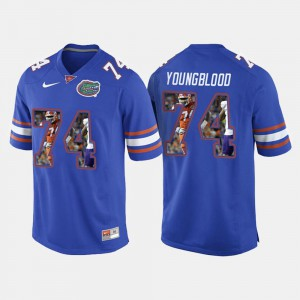 College Football For Men's Jack Youngblood Gators Jersey Royal Blue #74 440615-114