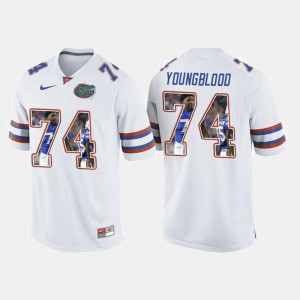 White College Football Men's #74 Jack Youngblood Gators Jersey 810017-194