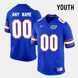 Blue #00 College Limited Football Youth FSU Customized Jersey 107615-157