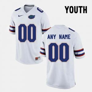 White #00 College Limited Football FSU Custom Jerseys Kids 335545-260