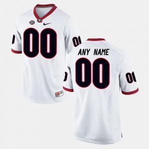 Men White College Limited Football UGA Custom Jersey #00 749371-969