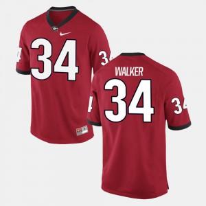 #34 Mens Alumni Football Game Red Herschel Walker UGA Jersey 632686-120