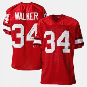 College Football #34 Red For Kids Herschel Walker UGA Jersey 923830-662