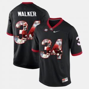 #34 Black Herschel Walker UGA Jersey Player Pictorial Men's 984122-693