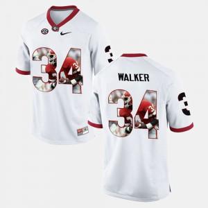 Herschel Walker UGA Jersey White Player Pictorial Men's #34 754983-586