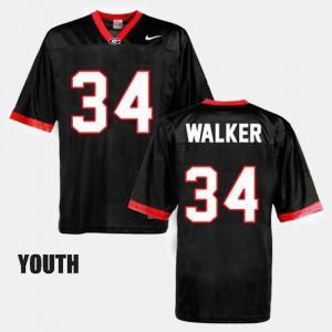 Black #34 Herschel Walker UGA Jersey College Football Youth(Kids) 808735-157