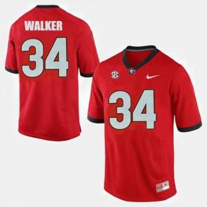 Men #34 College Football Herschel Walker UGA Jersey Red 955086-178