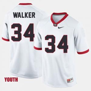 Youth(Kids) Herschel Walker UGA Jersey College Football #34 White 284511-233