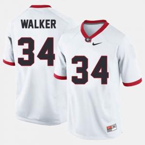 College Football #34 For Men White Herschel Walker UGA Jersey 648575-466