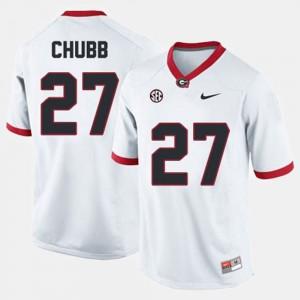 College Football White Nick Chubb UGA Jersey #27 Men 450759-329