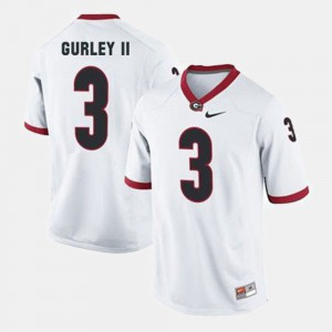 Todd Gurley II UGA Jersey #3 White College Football For Men's 463519-609