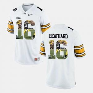 C.J. Beathard Iowa Jersey Player Pictorial Mens White #16 653946-507