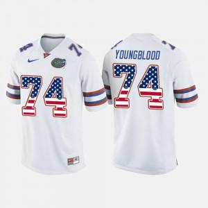 Jack Youngblood Gators Jersey US Flag Fashion White #74 Men 223850-635