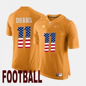Joshua Dobbs UT Jersey #11 Mens Orange US Flag Fashion 956995-615