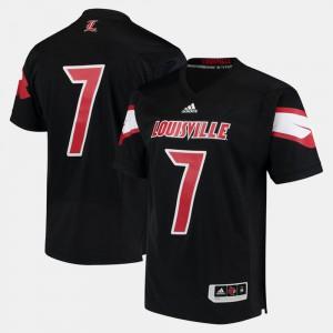 #7 Black 2017 Special Games For Men Louisville Jersey 524040-691