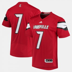 Red 2017 Special Games #7 For Men's Louisville Jersey 751143-436