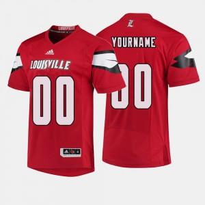 College Football Red Louisville Custom Jerseys #00 Men's 932925-277