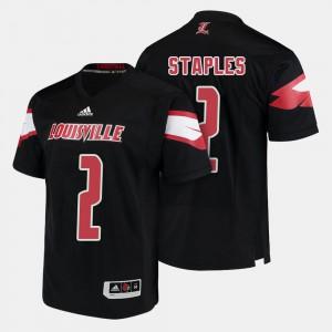 College Football Black Men's Jamari Staples Louisville Jersey #2 627354-360