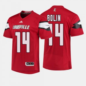 Red Kyle Bolin Louisville Jersey College Football #14 For Men's 279884-914