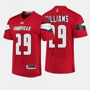 Red Malik Williams Louisville Jersey College Football Mens #29 923146-361