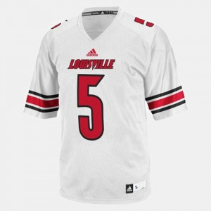 White College Football Teddy Bridgewater Louisville Jersey For Men's #5 249798-119
