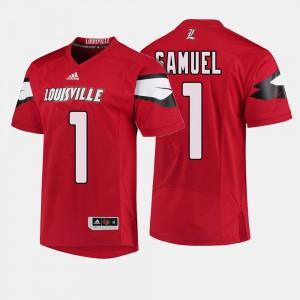 Traveon Samuel Louisville Jersey #1 Mens College Football Red 392924-611