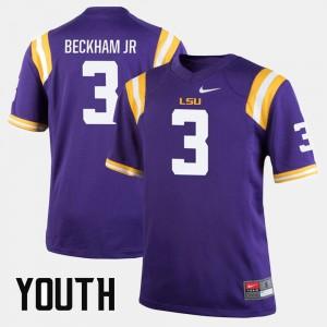 Odell Beckham Jr LSU Jersey #3 Alumni Football Game Purple Kids 733062-123