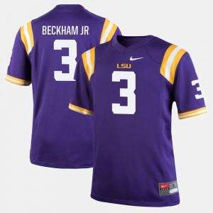 Alumni Football Game Odell Beckham Jr LSU Jersey #3 Purple Mens 326277-118